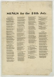 Songs for the 24th July (1851)