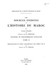Sources Inedites De L-histoire Du Maroc. T. II