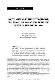South America Post Cold War Era: war on drugs and the reshaping of the US security agenda