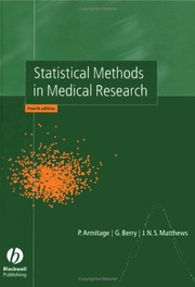 Statistical Methods in Medical Research : P  Armitage : Free