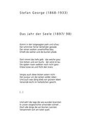 Stefan George Gedichte Stefan George Free Download