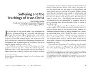 Suffering and the Teachings of Jesus Christ