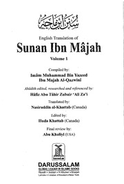 Sunan Ibn Majah all five Volumes English Arabic : Ibn Majah : Free