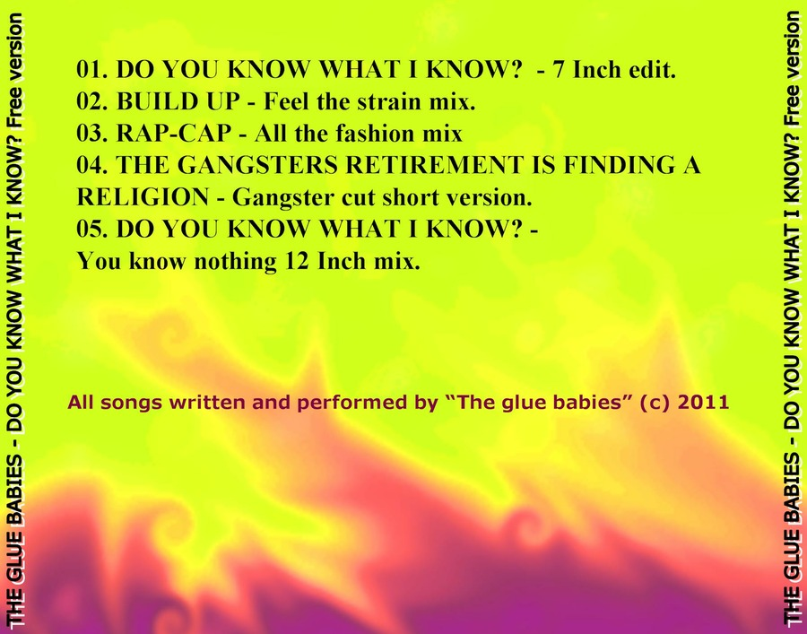 THE GLUE BABIES - DO YOU KNOW WHAT I KNOW - FREE EP : The