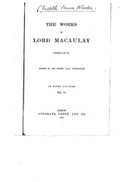 macaulay essay bacon Online library of liberty lord macaulay, critical and historical essays, vol 2 and some of his sportive sayings have been recorded by bacon.