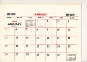 Calendar 1969.1969 Calendar Free Download Borrow And Streaming Internet Archive