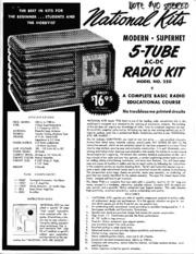 National Kits - Modern superhet 5-tube ac-dc radio kit Model