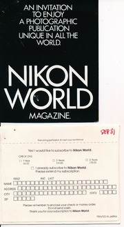 Nikon world magazine subscription offer 1981 free download nikon world magazine subscription offer 1981 free download borrow and streaming internet archive sisterspd