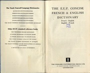 French english dictionary translation dictionary unknown but teach yourself french dictionary 1966 solutioingenieria Images
