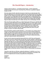 mark churchill essay