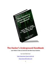 Hackers Underground Handbook Pdf