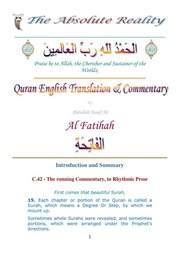 The Holy Quran Abdullah Yusuf Ali English Commentary With Tafsir