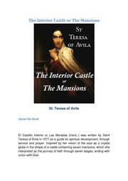 The Interior Castle Or The Mansions St Teresa Of Avila Free Download Borrow And Streaming