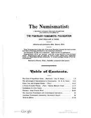 The Numismatist, Vol. 9 (1896)