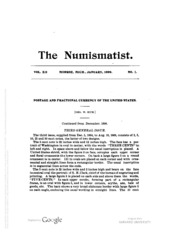 The Numismatist, Vol. 12 (1899)