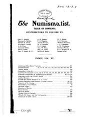 The Numismatist, Vol. 15 (1902)