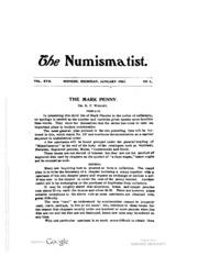 The Numismatist, Vol. 17 (1904)