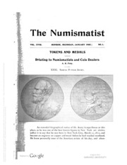 The Numismatist, Vol. 18 (1905)