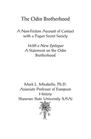 The Odin Brotherhood : Mark Mirabello : Free Download, Borrow, and