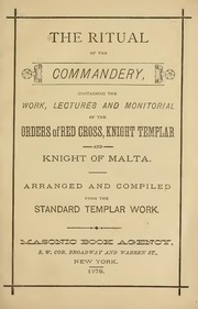 The Ritual Of The Commandery Orders Of Red Cross Knights