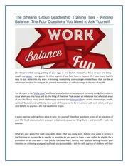 the shearin group leadership training tips Klyftan mellan män och kvinnor i företagens värld är inget nytt i många branscher, män fortfarande tjäna mer pengar, ockupera mer ledande positioner och avancera snabbare än kvinnor gör det växande antalet kvinnliga chefer, särskilt i fortune 500-företag, är ett lovande tecken, är.