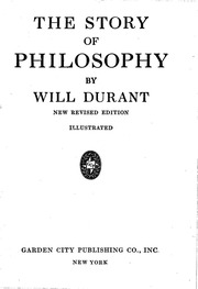 The Story Of Philosophy Will Durant : Will Durant : Free Download