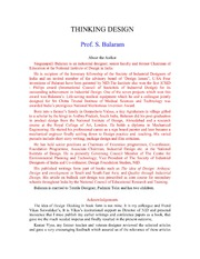 thinking design s balaram pdf