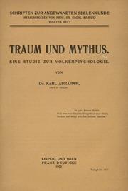 Traum und Mythus. Eine Studie zur Völkerpsychologie