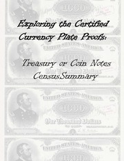 Treasury or Coin Notes Plate Proof Census Summary