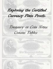 Treasury or Coin Notes Plate Proof Census Tables