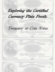 Treasury or Coin Notes Plate Proof Examples