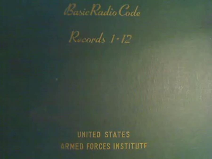 U S  Armed Forces Institute Basic Radio Code (1942) (u/l by AF2Z
