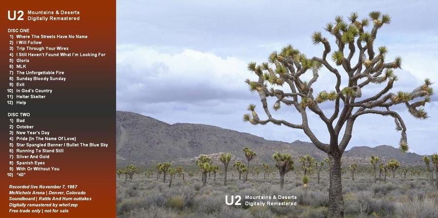 U2 - Joshua Tree Tour - 1987-11-07 - Denver : Free Download