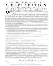the details of the declaration of independence of the united states Of america detail of the list of signers on the sussex declaration  [papers of  the bibliographical society of america] advertisement.