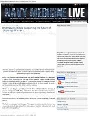 Undersea Medicine Supporting The Future Of Undersea Warriors