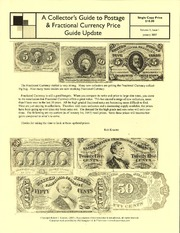 A Collector's Guide to Postage & Fractional Currency Price Guide Update