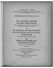 Versteigerungs-Katalog No. 45