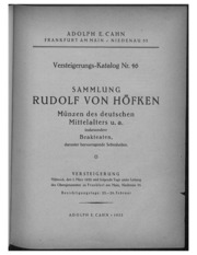 Versteigerungs-Katalog No. 46