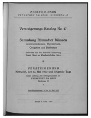 Versteigerungs-Katalog No. 47