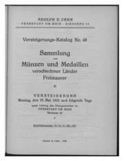Versteigerungs-Katalog No. 48
