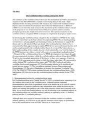 Vestibulocochlear Working Concept For PTSD reference 3