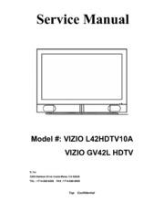 service manual vizio gv42l hdtv free download borrow and rh archive org Vizio HDMI HDTV Manual Vizio VX37L Service Manual