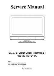 service manual vizio vx42lhdtv10a vw42lhdtv10a free download rh archive org Vizio VX42L HDTV10A Problems Vizio VX42L Parts