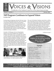Voices and Visions, Southeast Conference, United Church of Christ, Summer 2003
