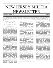 New Jersey Militia Newsletter Vol 20 No 12, June 2015