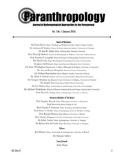 Paranthropology: Journal of Anthropological Approaches to the Paranormal Vol. 5 No. 2
