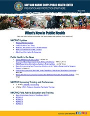 Whats New In Public Health MAY 2016