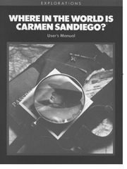 Radio Shack Coco Manual Where In The World Is Carmen