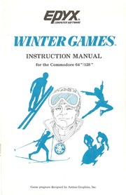 Commodore C64 Manual: Winter Games (1985)(Epyx) : Free Download