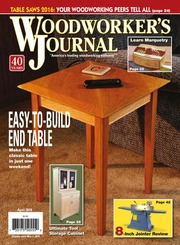 Woodworkers Journal April 2016 Free Download Borrow And